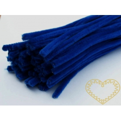 Modelovací chlupatý drátek tmavě modrý