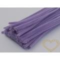 Modelovací chlupatý drátek světle fialový - sada 100 ks