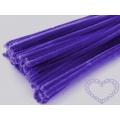Modelovací chlupatý drátek tmavě fialový
