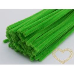 Modelovací chlupatý drátek světle zelený