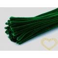 Modelovací chlupatý drátek tmavě zelený - 100 ks