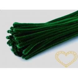 Modelovací chlupatý drátek tmavě zelený