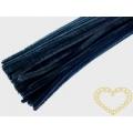 Modelovací chlupatý drátek černý - sada 100 ks