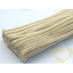 Modelovací chlupatý drátek smetanový - sada 100 ks