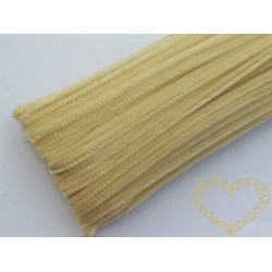 Modelovací chlupatý drátek bledě žlutý