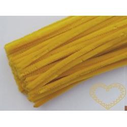 Modelovací chlupatý drátek žlutý
