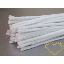 Modelovací chlupatý drátek bílý