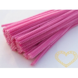Modelovací chlupatý drátek růžový
