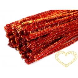 Modelovací chlupatý drátek měděný - sada 100 ks