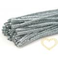Modelovací chlupatý drátek stříbrný