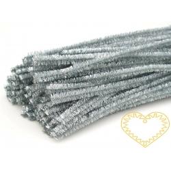 Modelovací chlupatý drátek stříbrný - sada 100 ks