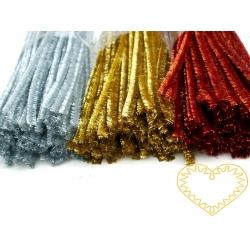 Modelovací chlupatý drátek zlatý - sada 100 ks