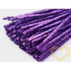 Modelovací chlupatý drátek metalický fialový - 100 ks