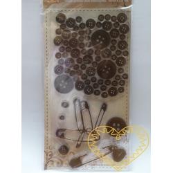 Gelová razítka - knoflíky, spínací špendlíky (10 x 20 cm)