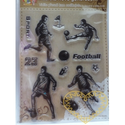 Gelová razítka - fotbal (14 x 18 cm)