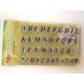 Gelová razítka - abeceda, čísla (10 x 15 cm)