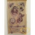 Gelová razítka - andílci, zvonek, bordury (8 x 14 cm)