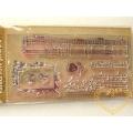 Gelová razítka - noty, ornament, písmo (8 x 14 cm)