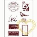 Gelová razítka - poštovní štítky, děti, andulka (10 x 15 cm)