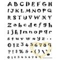 Gelová razítka - písmena a čísla  s vroubky (14 x 18 cm)