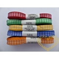 Úzká textilní stuha kostičky - šíře 1 cm, délka 10 metrů