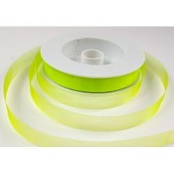 Stuha organza zelená šíře 15 mm - 50 m