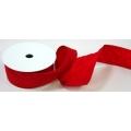 Stuha  červená s drátem v kraji - šíře 50 mm - 10 m