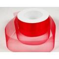 Stuha organza červená šíře 50 mm - 50 m