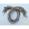 Šňůrka bavlněná voskovaná s karabinkou - délka 45 cm - barevný mix