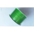 Stuha atlasová zelená - šíře 3 mm - 50 m