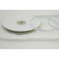 Stříbrná brokátová stuha - šíře 6 mm, délka 10 m