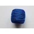 Perlovka - modrá vyšívací příze - 85 m
