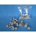 Mixflor šedý - jednobarevný mix - 100 tvarů z buničité vaty