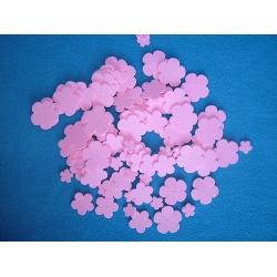 Kytky z pěnové gumy růžové - sada 100 kusů