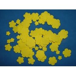 Kytky z pěnové gumy žluté - sada 100 kusů
