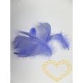 Peříčka světle fialová - balení 15 g (cca 250 kusů)