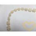 Smetanové plastové kytičky - řetěz