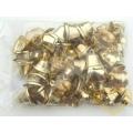 Zlaté kovové zvonečky - sada 100 ks