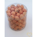 Oranžová žíhaná polystyrenová vajíčka výška 2 cm - sada 100 kusů