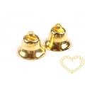 Zlaté kovové zvonečky 12 x 20 mm - sada 1000 ks