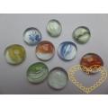 Ozdobné skleněné kamínky v plastovém kyblíčku 200 ks