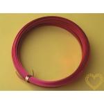 Červený dekorační hliníkový drát  - flat 5 x 1 mm, délka 10 m