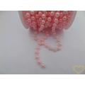 Růžové korálky Ø 8 mm - řetěz