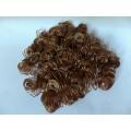 Hnědé kudrnaté vlasy - 15 g