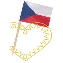 Vlaječka ČR přízdoba pohoštění - 50 ks