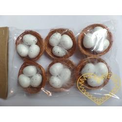 Hnízdo s vajíčky - 6 ks