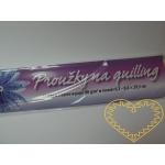 Duhové papírové proužky na quilling - 250 ks
