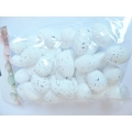 Bílá žíhaná polystyrenová vajíčka výška 3 cm - 36 ks