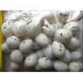 Žíhaná plastová vajíčka výška 4,5 cm - 48 ks