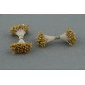 Pestíky květinové oboustranné zlaté 3 mm - 144 ks